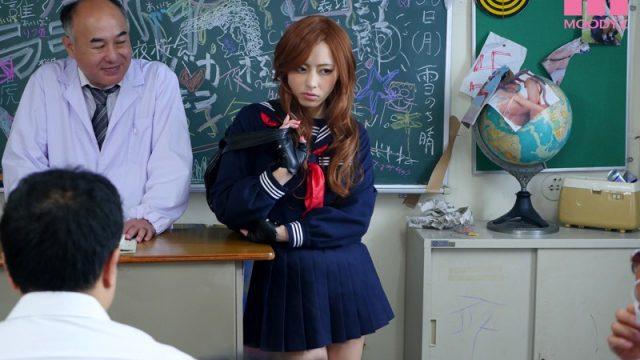 แยงกี้สาวสุดซ่า ท้าให้เย็ด หนังเอวีญี่ปุ่น สาวห่าวสุดซ่า โดนนักเรียนชายจับเรียงคิวเย็ด